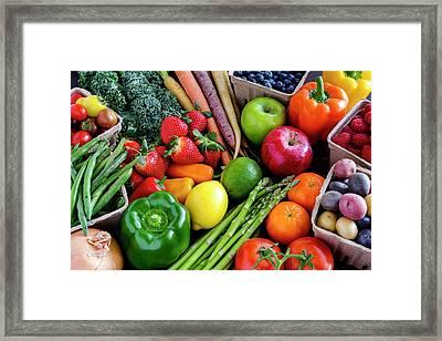 Fresh From The Farm Framed Print
