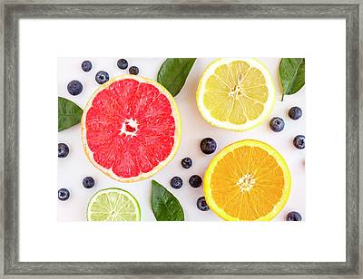 Fresh Fruit Framed Print by Teri Virbickis