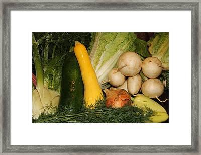 Fresh Garden Produce Framed Print