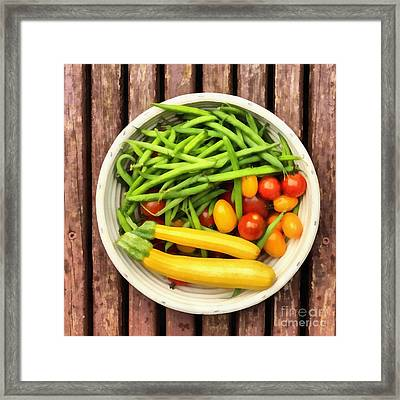 Fresh Garden Veggies Framed Print by Edward Fielding