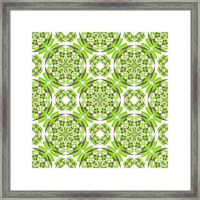 Fresh Geometric Pattern Framed Print