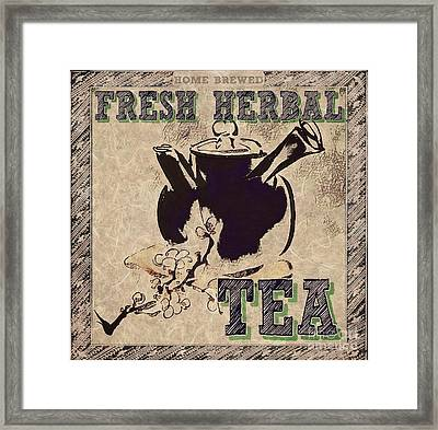 Fresh Herbal Tea Framed Print