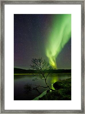 Fresh Ice On The Lake Framed Print