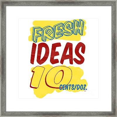Fresh Ideas Framed Print by Edward Fielding