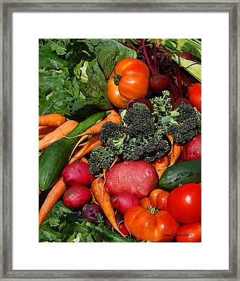 Fresh Is Best Framed Print by Diane E Berry