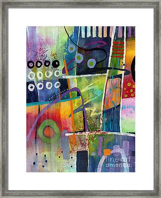 Framed Print featuring the painting Fresh Jazz by Hailey E Herrera
