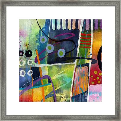 Fresh Jazz In A Square Framed Print by Hailey E Herrera