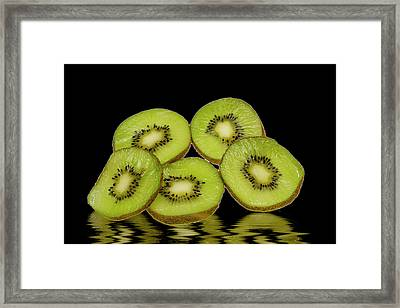 Fresh Kiwi Fruits Framed Print by David French