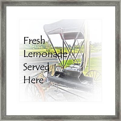 Fresh Lemonade Served Here Framed Print by Eloise Schneider