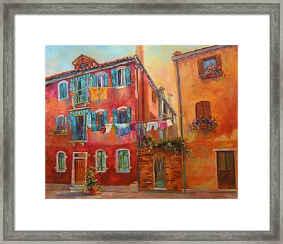 Fresh Linen Framed Print