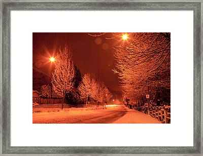 Fresh Morning Snow Framed Print