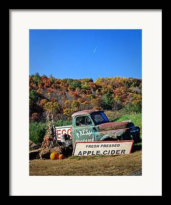 Corn Apple Cider Framed Prints