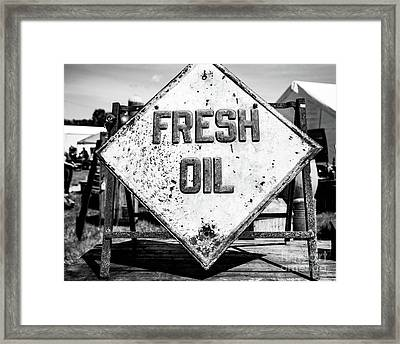 Fresh Oil Framed Print by April Ann Canada