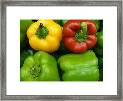 Fresh Peppers II Framed Print by Florene Welebny