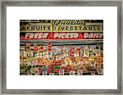 Fresh Picked Daily Framed Print by Spencer McDonald