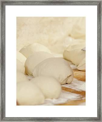 Fresh Pizza Dough Framed Print
