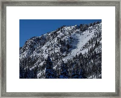 Fresh Powder Stevens Pass Framed Print