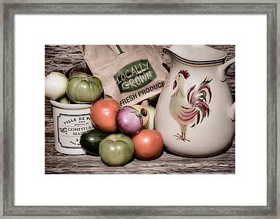 Fresh Produce - 1b Framed Print by Greg Jackson