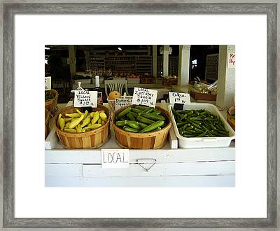 Fresh Produce Framed Print