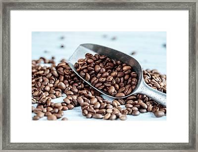 Fresh Roasted Coffe Beans Framed Print