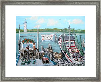 Fresh Seafood  Framed Print