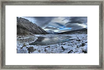 Fresh Snow At Medicine Lake Framed Print by Adam Jewell