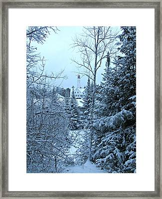 Framed Print featuring the photograph Fresh Snow by Greta Larson Photography