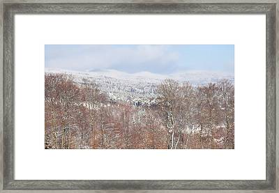 Fresh Snow In Arzier Framed Print