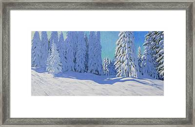 Fresh Snow  Morzine  France Framed Print by Andrew Macara