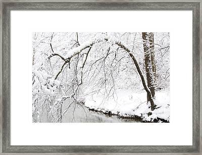 Fresh Snowfall On The River Framed Print