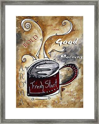 Fresh Start By Madart Framed Print by Megan Duncanson