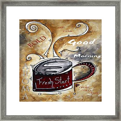 Fresh Start Original Painting Madart Framed Print by Megan Duncanson