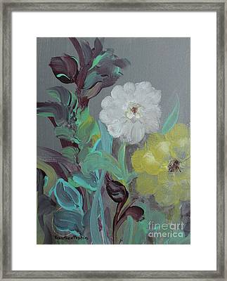 Framed Print featuring the painting Fresh Start  by Robin Maria Pedrero