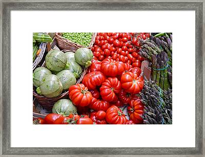 Fresh Vegetables Framed Print