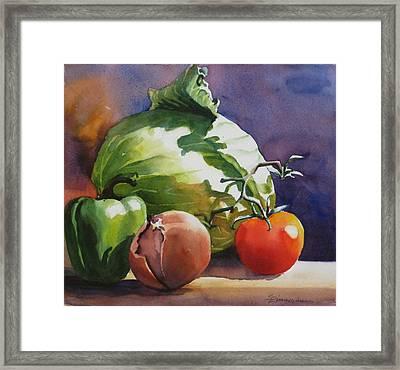 Fresh Vegetables Framed Print by Sue Zimmermann