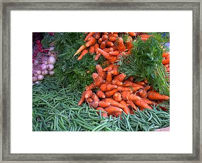 Fresh Veggies Framed Print