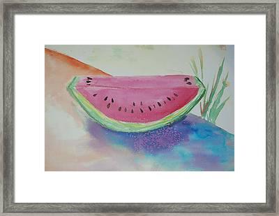 Fresh Watermelon Framed Print by Aldonia Bailey