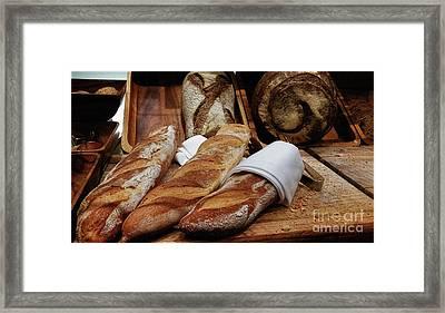 Freshly Baked Bread By Kaye Menner Framed Print by Kaye Menner