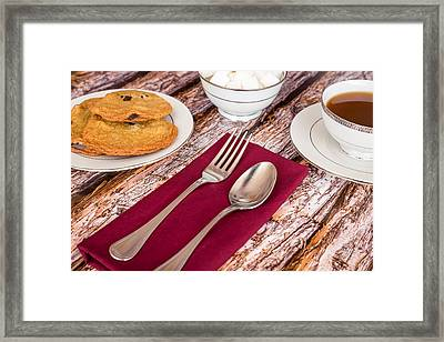 Freshly Baked Chocolate Chip Cookies And Coffee #1 Framed Print by Jon Manjeot