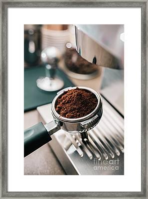 Freshly Ground Coffee Framed Print