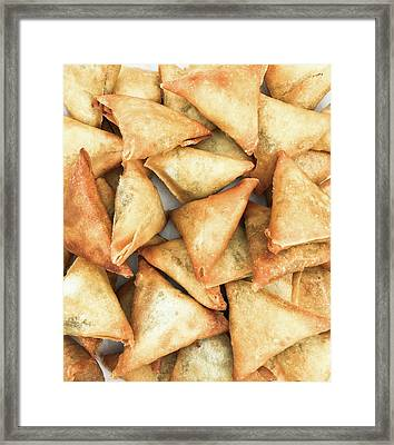 Freshly Made Samosas Framed Print