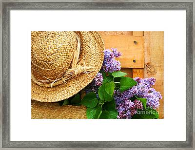Freshly Picked Lilacs Framed Print by Sandra Cunningham