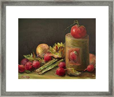 Freshly Picked Framed Print by Mary Wolf