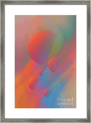 Freshness Of Spring Framed Print by D Cosmos