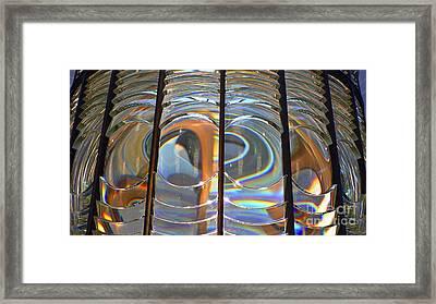 Fresnel Lens Framed Print by Larry Keahey