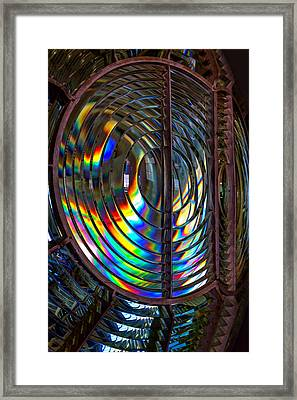 Fresnel Lens Point Arena Lighthouse Framed Print