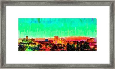 Fresno Skyline 108 - Pa Framed Print