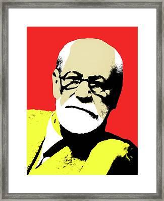 Freud Pop Art Framed Print by Hudson Melo