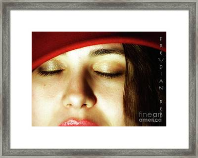 Freudian Red  Framed Print by Steven Digman