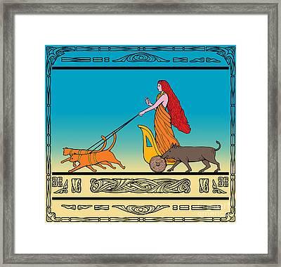Freya Norse Goddess Framed Print by Aloysius Patrimonio